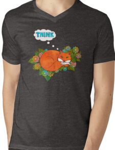 Think Outside the Fox Mens V-Neck T-Shirt