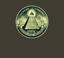 All seeing eye, pyramid, dollar, freemason, god Unisex T-Shirt