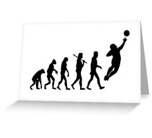 Soccer Goalie Evolution Greeting Card