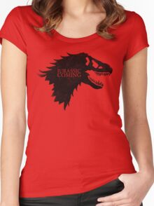 Jurassic is Coming Women's Fitted Scoop T-Shirt