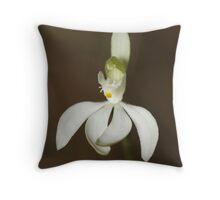 White Fingers Orchid - Caladenia catenata Throw Pillow