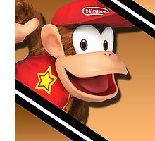 Diddy Kong-Smash 4 Phone Case by TomsTops