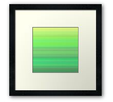 Forest Stripes Framed Print