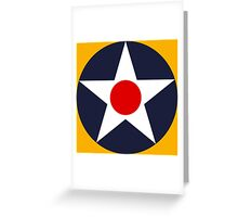 USAAC Historical Roundel 1919-1941 Greeting Card