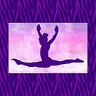 """The Gymnast ~ Pink and Purple Animal Stripe Version """"C"""" by Susan Werby"""