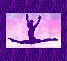 "The Gymnast ~ Pink and Purple Animal Stripe Version ""C"" by Susan Werby"
