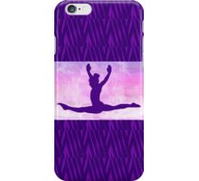 "The Gymnast ~ Pink and Purple Animal Stripe Version ""C"" iPhone Case/Skin"