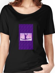 """The Gymnast ~ Pink and Purple Animal Stripe Version """"C"""" Women's Relaxed Fit T-Shirt"""