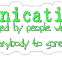 Fornication Sticker