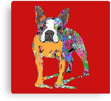Boston Terrier Graffiti Canvas Print