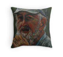 Old Man in Cap Throw Pillow