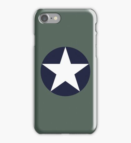 US historical roundel 1942-1943 iPhone Case/Skin