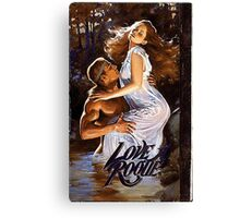 Love A Rogue romance novel cover with Fabio Canvas Print