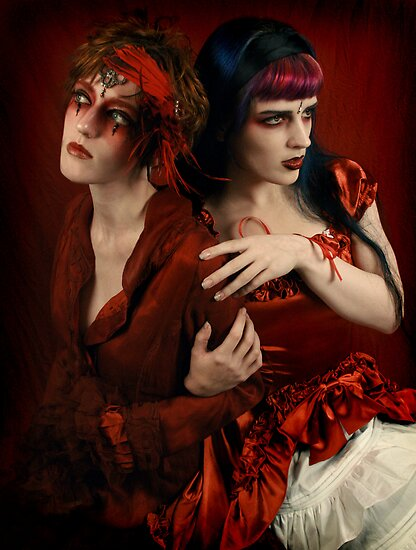 Alice and the Queen of Hearts by PorcelainPoet