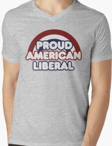 Proud american liberal Mens V-Neck T-Shirt
