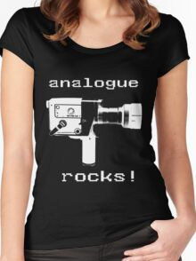 analogue rocks Women's Fitted Scoop T-Shirt