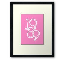 1989 Pink Neon Sign Framed Print