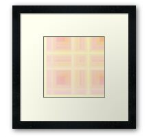 Rose-Pink Plaid Framed Print