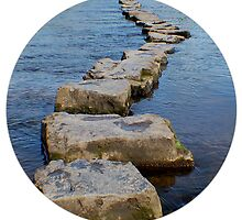The stepping stones at Ogmore castle by lozmar