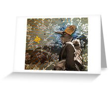 The Currawong cometh Greeting Card