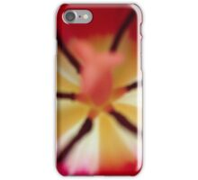 Abstract red tulip iPhone Case/Skin