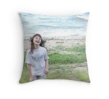 Having A Blast In The Winds! Throw Pillow