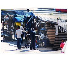 Township Life - Shops outside the School Poster