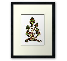 Magic mushrooms, Plants of the Gods, psychedelic, Trance Goa Psy  Framed Print