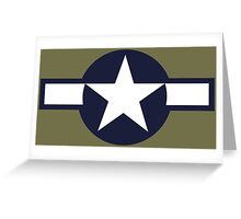 US Historical Roundel 1943-1947 Greeting Card