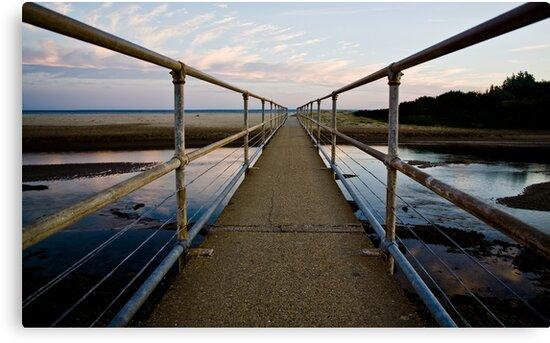 Footbridge to Seven Mile Beach by Carol Ritchie