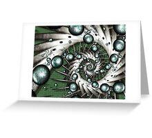 Centrifuge, fractal, spiral Greeting Card