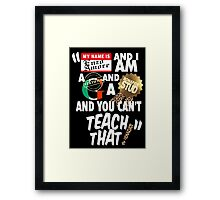 """ My name is Enzo Amore Framed Print"