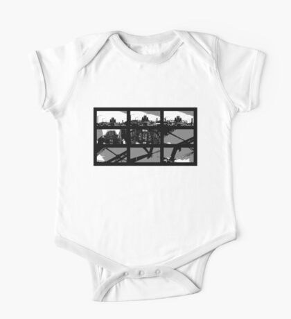 Crossing The Bridge into The Abstract One Piece - Short Sleeve