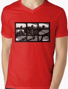 Crossing The Bridge into The Abstract Mens V-Neck T-Shirt