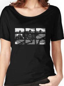 Crossing The Bridge into The Abstract - Black Women's Relaxed Fit T-Shirt