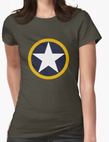 US Historical Roundel 1942 Torch Womens Fitted T-Shirt