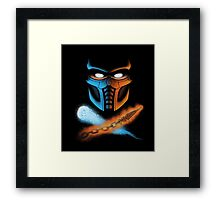 FINISH HIM! Framed Print