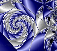 Blue Satin Spirals by plunder