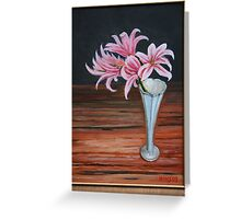 """Lilies and wood"" Greeting Card"