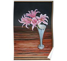 """""""Lilies and wood"""" Poster"""