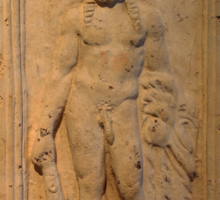 Ancient Male Torso Sticker