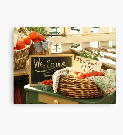 Farm Stand Purchase: Plum Tomatoes Canvas Print