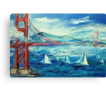 San Francisco golden gate bridge sailing day Canvas Print