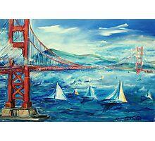 San Francisco golden gate bridge sailing day Photographic Print