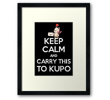 FF9 - Keep Calm and Carry This to Kupo Framed Print