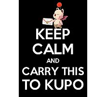 FF9 - Keep Calm and Carry This to Kupo Photographic Print