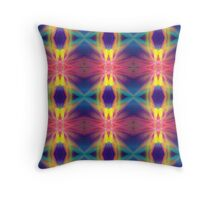 Colourful fractal patterns Throw Pillow