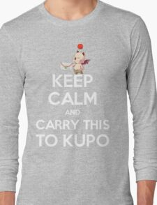 FF9 - Keep Calm and Carry This to Kupo Long Sleeve T-Shirt