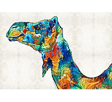Colorful Camel Art by Sharon Cummings Photographic Print