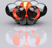 Group of Bulbs by Digital Editor .